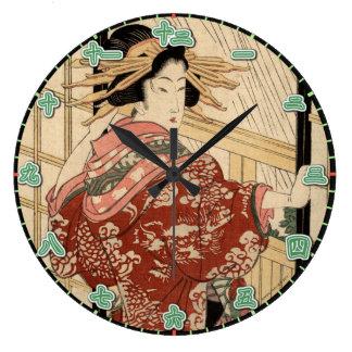 Väggen tar tid på tal för Kanji för Geishadam Stor Klocka