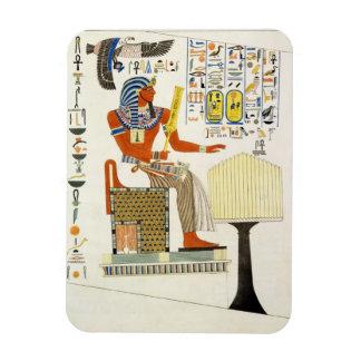 Väggmålning från gravarna av kungarna av Thebes, d Magnet