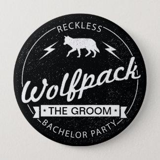 Våghalsigt namn för brudgum för Wolfpack Stor Knapp Rund 10.2 Cm