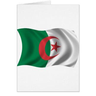 Vågigt den Algeriet flagga Hälsningskort