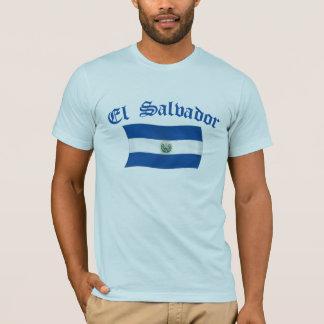 Vågigt den El Salvador medborgareflagga T-shirts