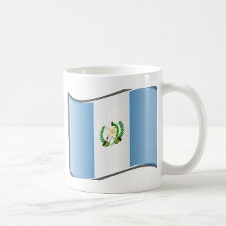 Vågigt den Guatemala flagga Kaffemugg