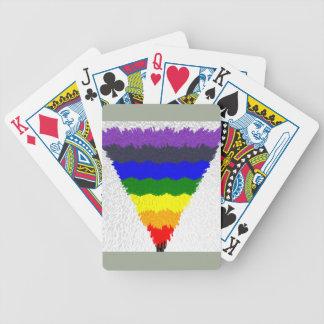 Vågigt kvarterfibrer, regnbåge somtriangeln spelkort