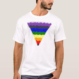 Vågigt kvarterfibrer, regnbåge somtriangeln tröjor
