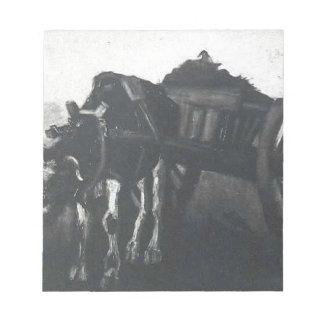 Vagn med den svart oxen av Vincent Van Gogh Anteckningsblock