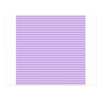 Vågrätrandar - wisteria- och bleklavendel vykort
