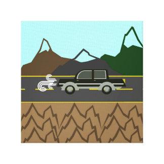 Vägresa i bergen canvastryck