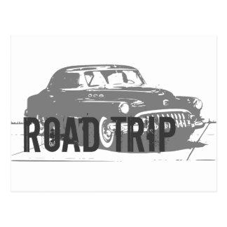 Vägresavintage car vykort
