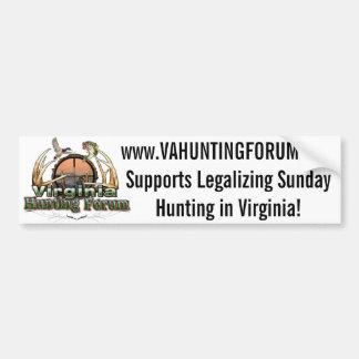 VAHuntingForum - legaliseraa söndagjakt i VA Bildekal