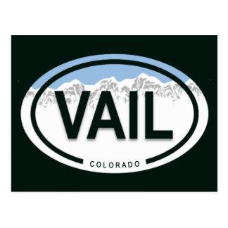 Vail Colorado stenigt berg Vykort