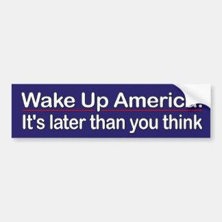 Vak upp Amerika Bildekal