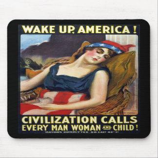 Vak upp Amerika Vintagevärldskrig som jag poster Mus Mattor