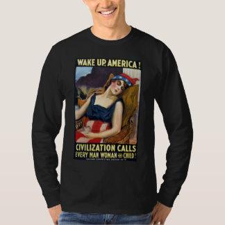 Vak upp Amerika! Vintagevärldskrig som jag poster Tee Shirts