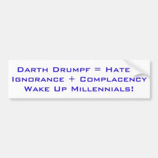 Vak upp Millennials Bildekal