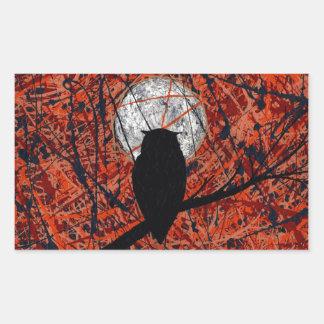 VAKAN (inte kan slåss temat för månsken~-ugglan), Rektangulärt Klistermärke