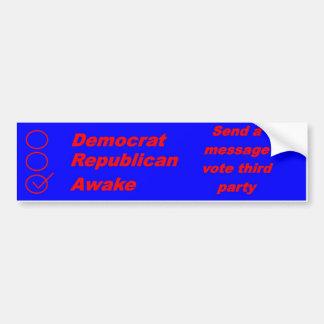 Vaken bildekal för republikansk demokrat