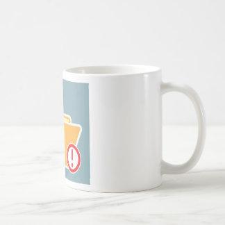 Vaken okänd uppmärksamhet för mapp kaffemugg