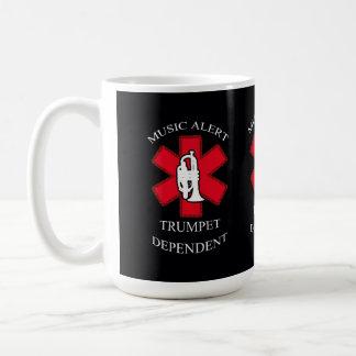 Vaken trumpet för musik kaffemugg