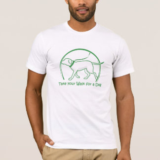 vakna för hund t-shirt
