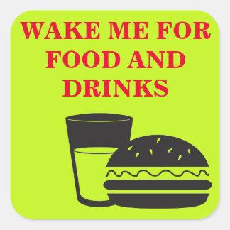 Vakna upp mig! fyrkantigt klistermärke