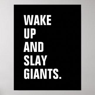 Vakna upp och dräpa jätteaffischen poster