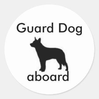 Vakthund ombord runt klistermärke