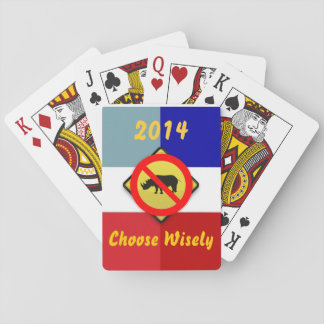 Val 2014 ingen RINOs Teaparty som leker kort Spel Kort