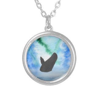 Val med nordligt ljus silverpläterat halsband