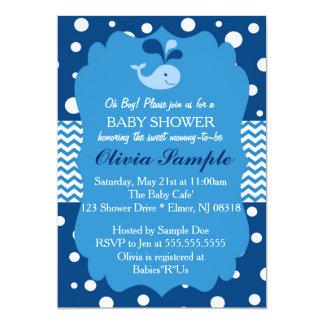 Valbaby showerinbjudan, nautisk baby shower 12,7 x 17,8 cm inbjudningskort