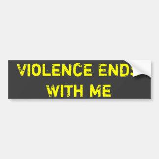 Våld avslutar med mig bildekal