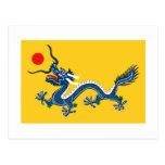 Välde av chinaflagga vykort