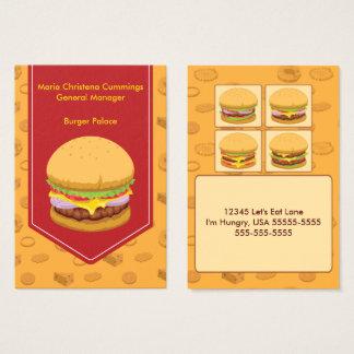 Väldig visitkort för hamburgaresnabbmat