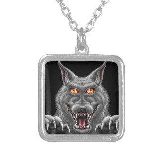 Våldsam Werewolf Silverpläterat Halsband