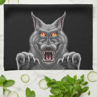 Våldsam Werewolfkökshandduk Kökshandduk