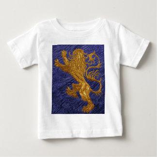 Våldsamt lejont - guld på blått tröjor