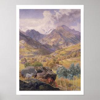 Valen - D-' aosta, 1858 (olja på kanfas) Poster