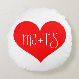 Valentin älskare för dagpersonlig kudder rund kudde