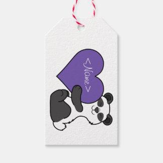 Valentin björn för Panda för dag gullig med Presentetikett