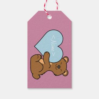 Valentin björnen för dagbruntet med ljust - slösa presentetikett