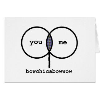 Valentin: Bowchicabowwow roligt grafkort Hälsningskort