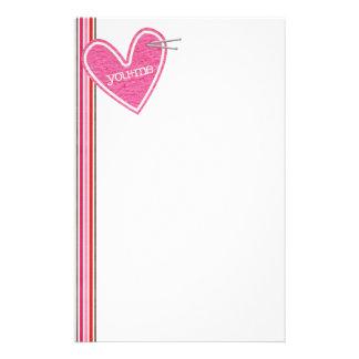 Valentin brevpapper för daghjärta