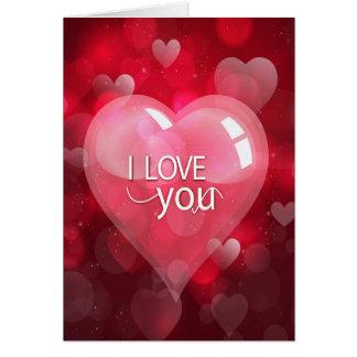 """Valentin dag """"älskar jag dig"""" som är rosa/som är hälsningskort"""