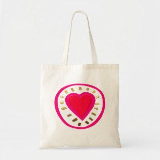 Valentin dag - modern rosa hjärta 1W hänger lös Budget Tygkasse