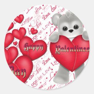 Valentin dag runt klistermärke