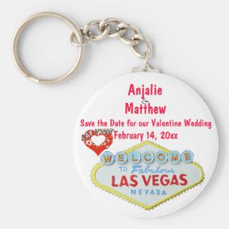 Valentin dag som gifta sig Las Vegas Nyckelring