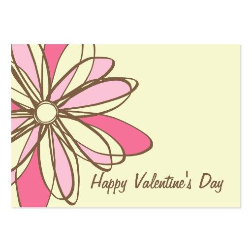 Valentin dag - uppsättning av 100 rosablommakort visitkort mall