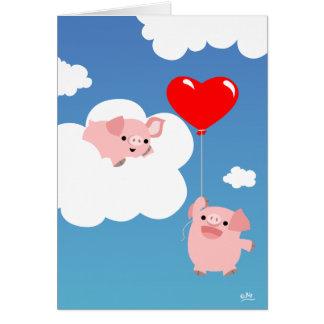 Valentin dag: Vingar av kärleknotecarden OBS Kort