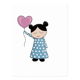Valentin dagflicka vykort