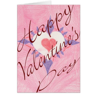 Valentin daghjärta hälsningskort