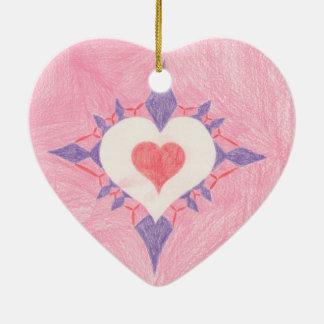 Valentin daghjärta julgransprydnad keramik